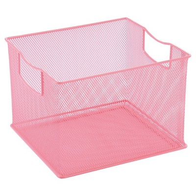 Square Wire Decorative Bin 14 x13  Pink - Pillowfort™