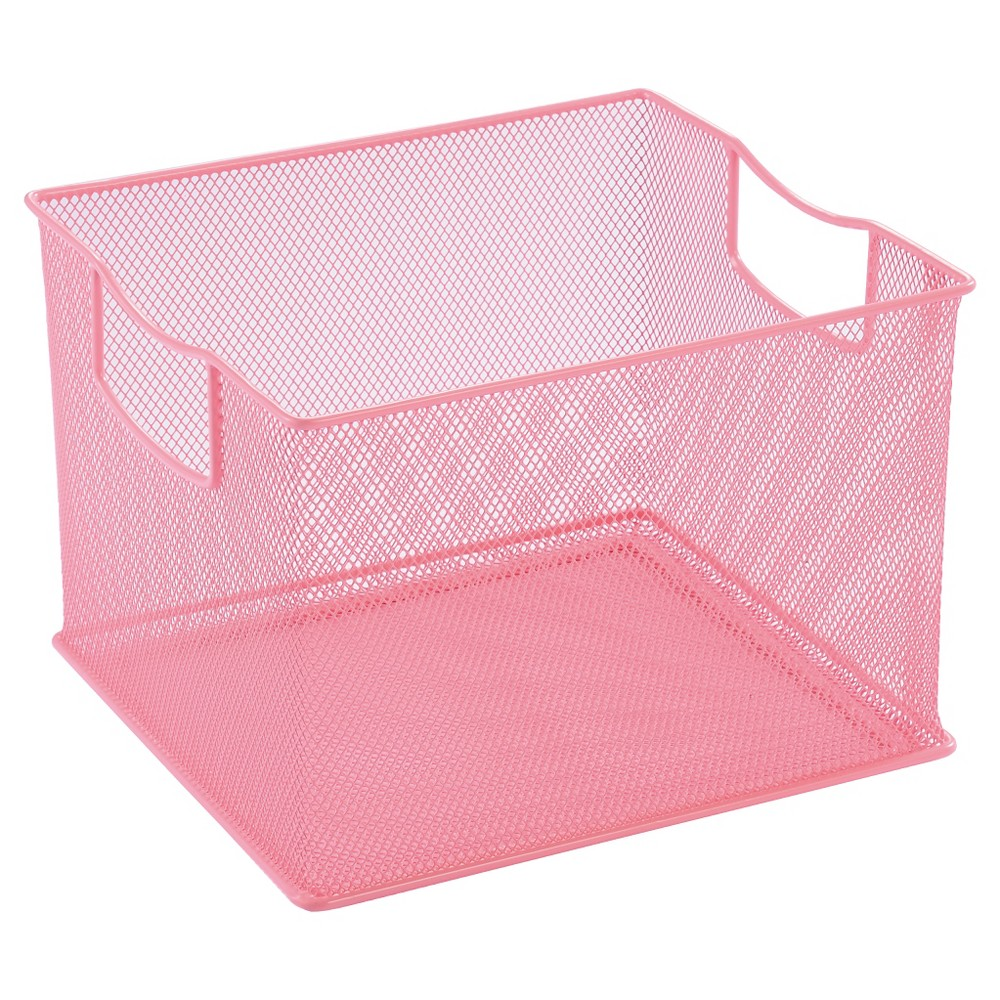 "Image of ""11"""" X 13"""" X 14"""" Wire Decorative Toy Storage Bin Pink - Pillowfort"""