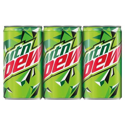 Mountain Dew Citrus Soda- 6pk/7.5 fl oz Mini-Cans