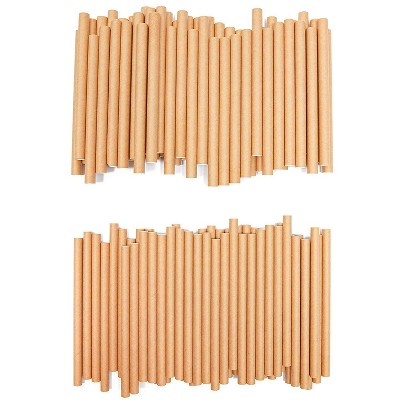100 Packs Mason Bee Nesting Tubes Refills and Inserts, Outdoor Garden Bees Cardboard Tube Refillable Mason Bee Nest House, 8mm & 10mm, 50 Each