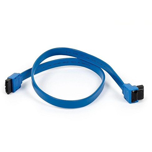 Black. 1.5feet 90-Degree and Straight Cable 18-Inch SATA III 6.0 Gbps Cable with Locking Latch SATA Cable 1.5feet