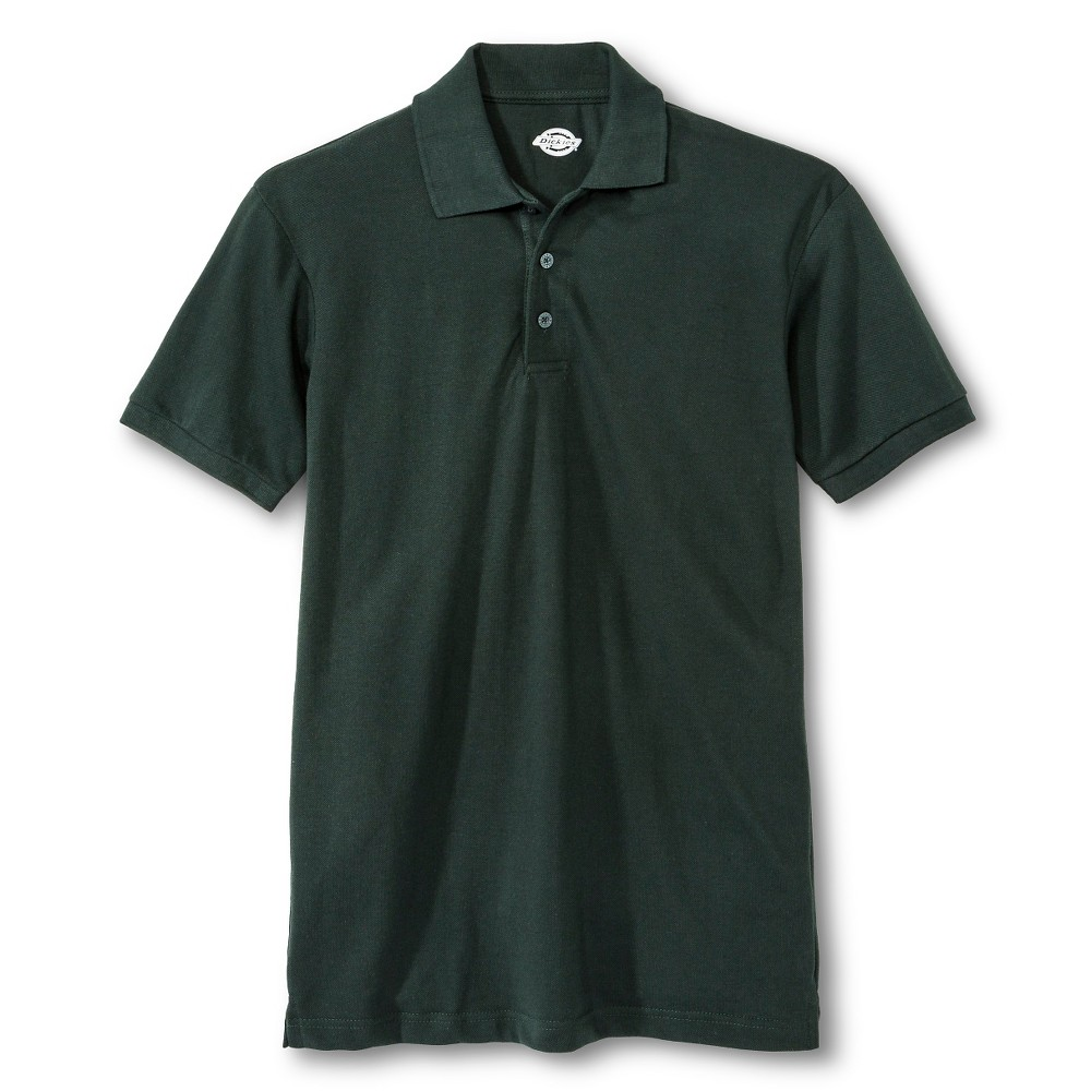 Image of Dickies Men's Pique Uniform Polo Shirt - Green L, Size: Large