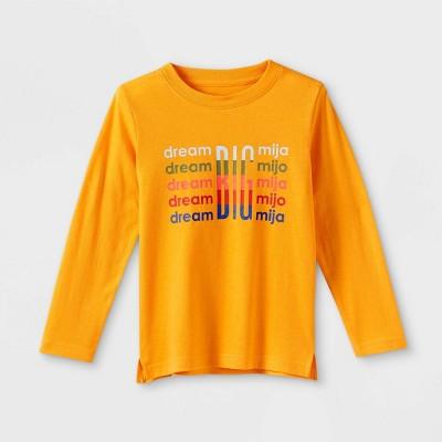 Latino Heritage Month Toddler Dream Big Long Sleeve T-Shirt - Yellow