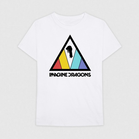 08f3dcf86119 Men s Imagine Dragons Short Sleeve Graphic T-Shirt - White   Target