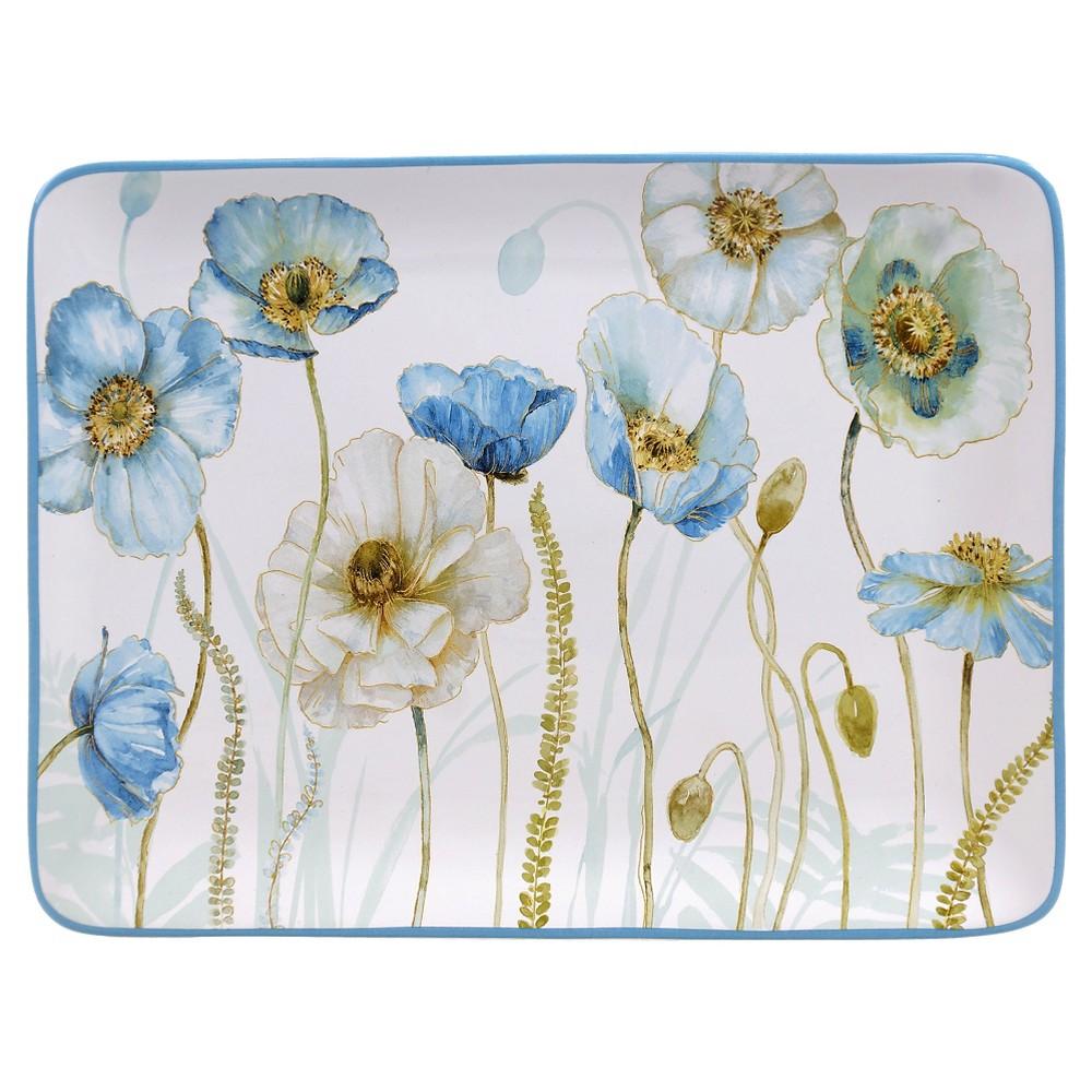 Certified International The Greenhouse Rectangular Platter 16