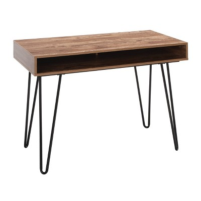 """44"""" Home Retro Writing Desk with Storage and Hairpin Legs - OFM"""