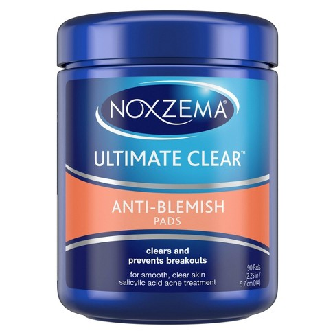 How To Use Noxzema >> Noxzema Ultimate Clear Anti Blemish Pads 90 Ct
