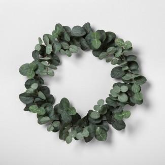 "14"" Faux Eucalyptus Wreath 14"" - Hearth & Hand™ with Magnolia"