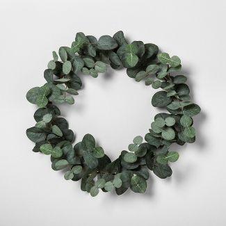 14u0022 Faux Eucalyptus Wreath 14u0022 - Hearth & Hand™ with Magnolia