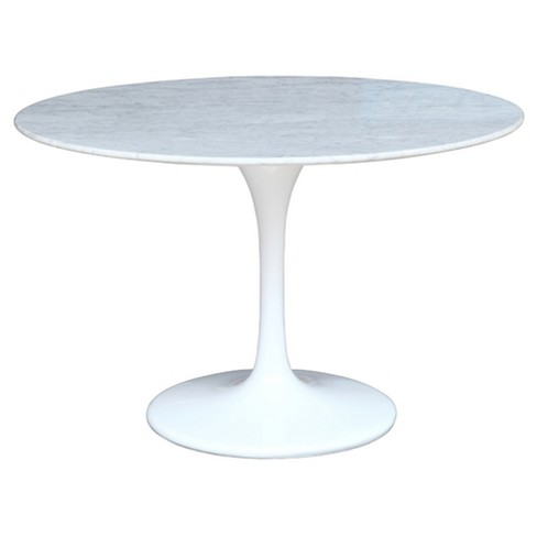 "Flower Marble Dining Table 60"" - White - Fine Mod Imports - image 1 of 4"