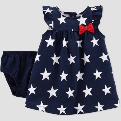 Baby Girls' Star Dress - Just One You® made by carter's Navy