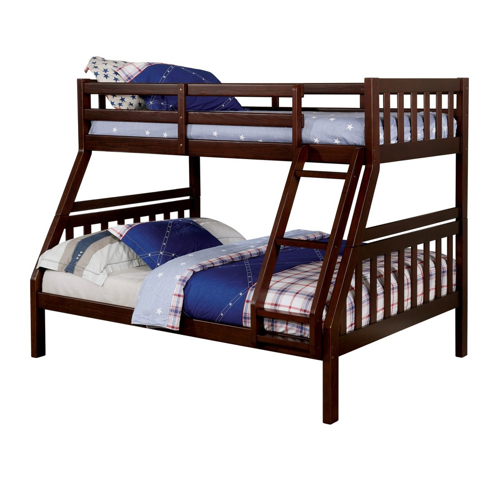 Image of Anika Kids Twin/Full Bed Dark Walnut - ioHOMES, Brown