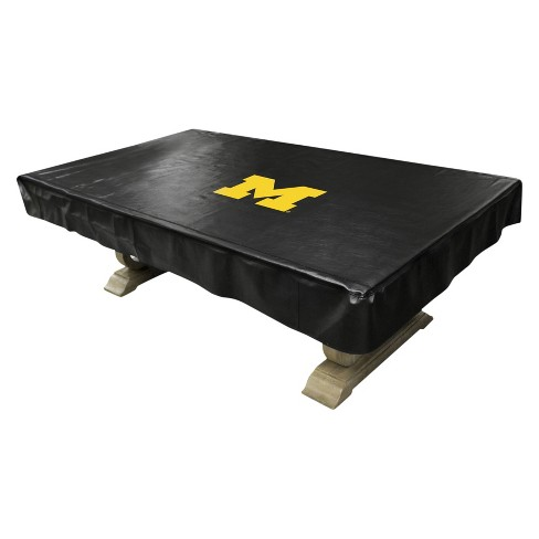 Surprising Ncaa Imperial 8 Deluxe Pool Table Cover Michigan Wolverines Gmtry Best Dining Table And Chair Ideas Images Gmtryco