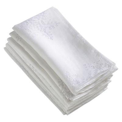 White Burnout Snowflake Napkin (20 )- Saro Lifestyle®