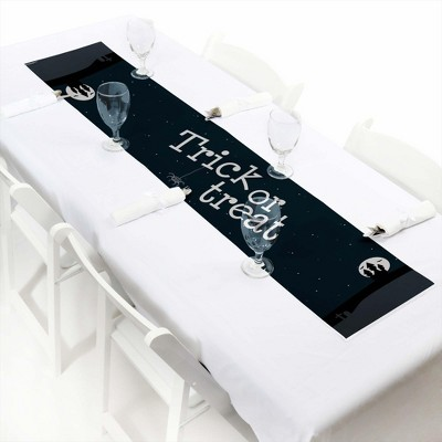 Big Dot of Happiness Trick or Treat - Petite Halloween Party Paper Table Runner - 12 x 60 inches