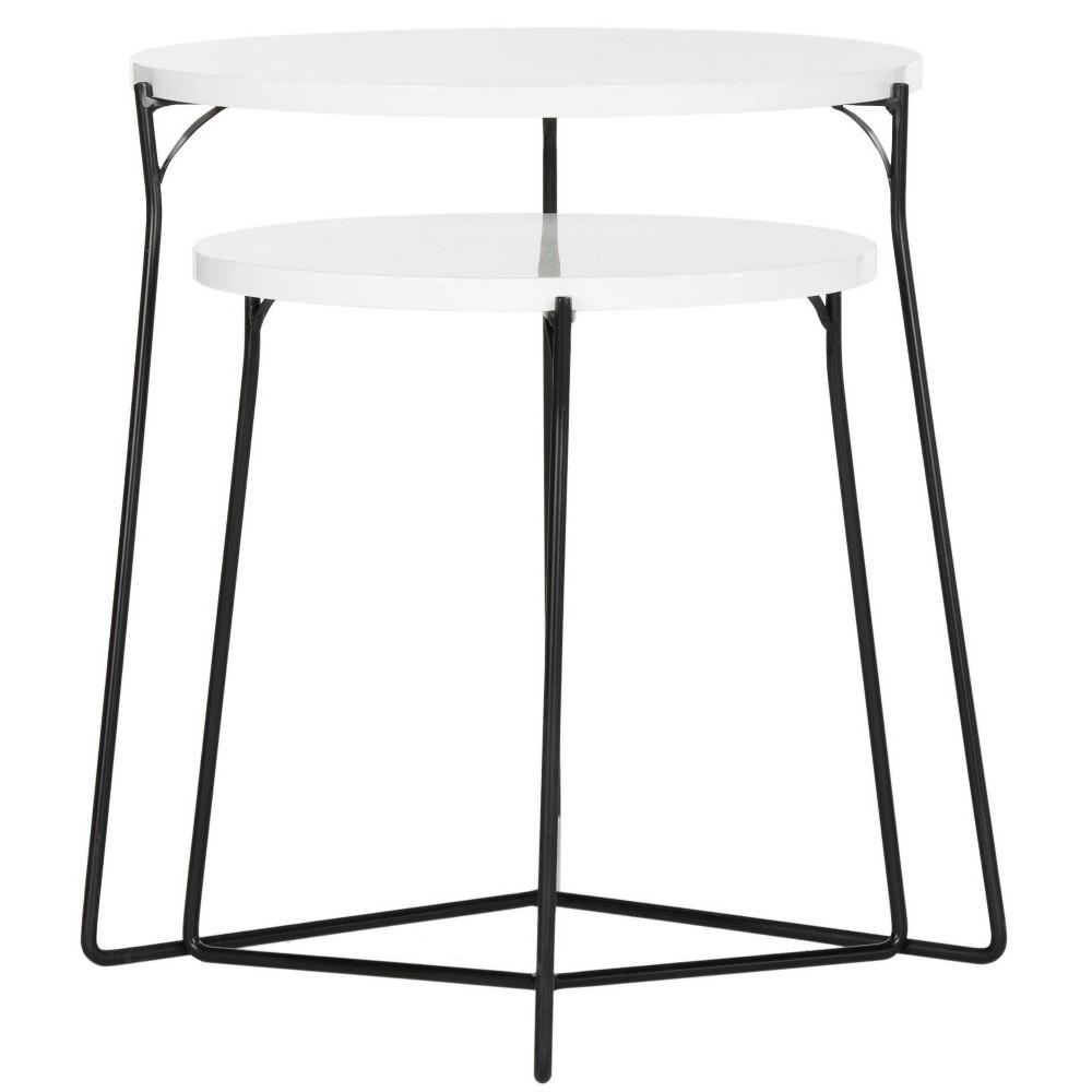 Ryne End Table - White - Safavieh