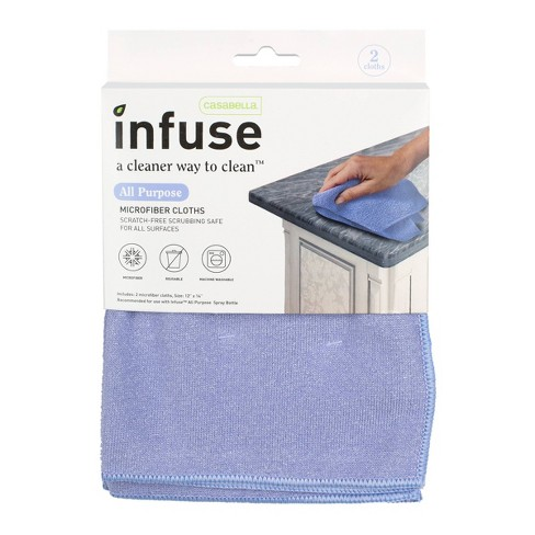 Casabella Infuse All Purpose Microfiber Cloths - 2pk - image 1 of 4