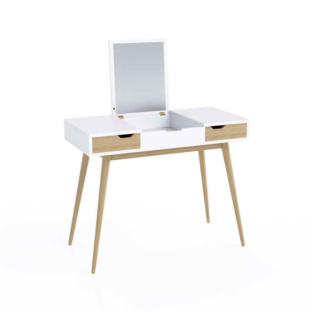 Image of Blythe Vanity Console White/Natural - Jamesdar