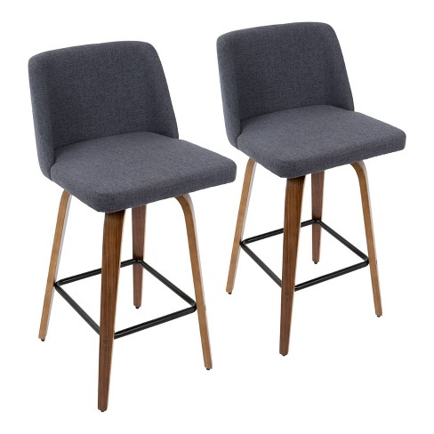 Set of 2 Toriano Mid-Century Modern Counter Height Barstool - LumiSource - image 1 of 4