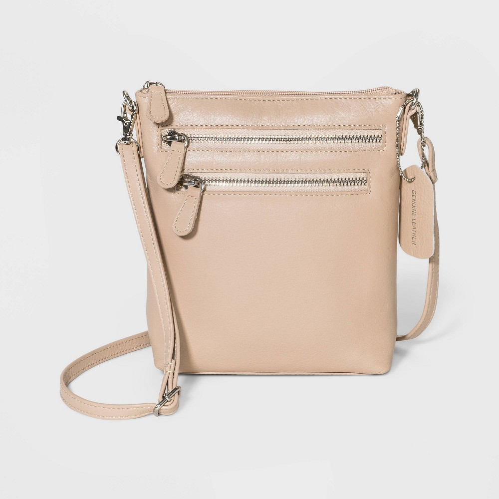 Image of Great American Leather Mini Crossbody Bag - Off White, Beige