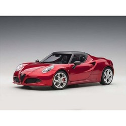 Alfa Romeo 4C Spider Competition Red with Black Top 1/18 Model Car by Autoart