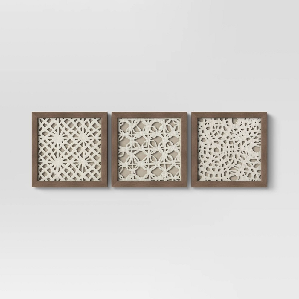 "Image of ""10""""x10"""" Rice Paper Shadow Box (Set of 3) - Threshold"""