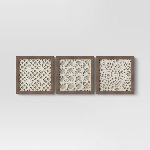 "(Set Of 3) 10"" x 10"" Rice Paper Shadow Box - Threshold™ - image 1 of 4"