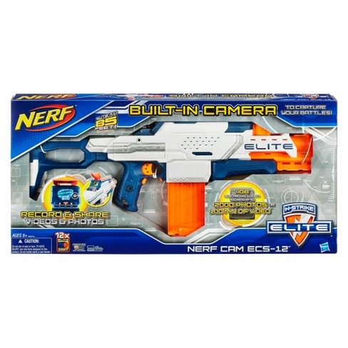 nerf n strike elite nerf cam ecs 12 blaster target
