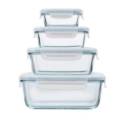 7e839cedac38 OXO 8pc Glass Food Storage Container Set Blue