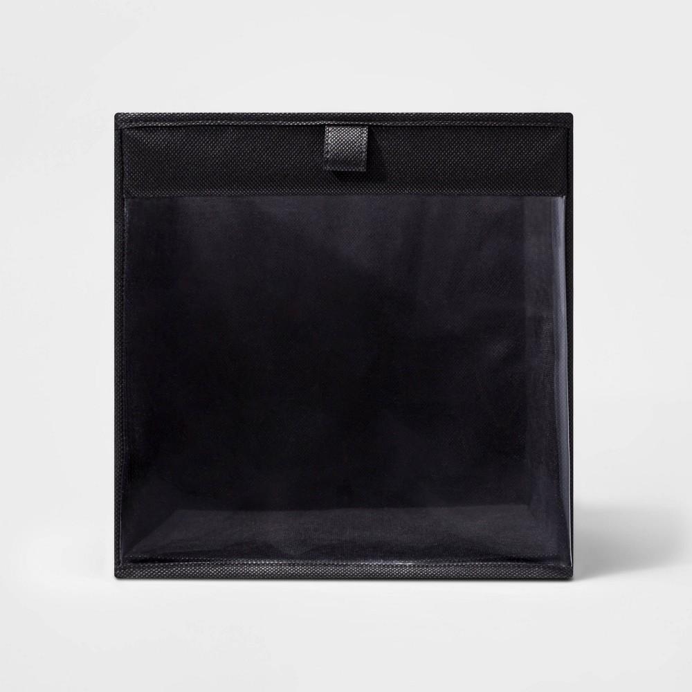 11 34 Fabric Cube Storage Bin Pocket Clear Black Room Essentials 8482