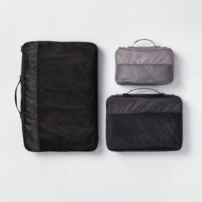 3pc Packing Cube Set Black - Made By Design™