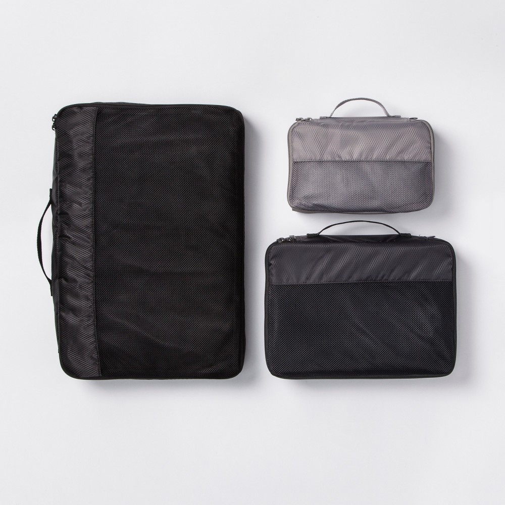 Image of 3pc Packing Cube Set Black - Made By Design