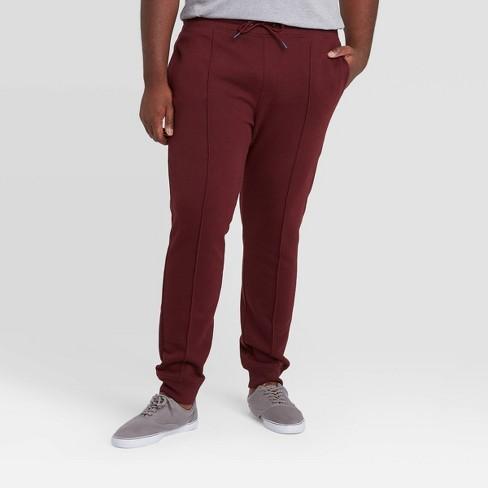 Men's Big & Tall Pintuck Fleece Jogger Pants - Goodfellow & Co™ - image 1 of 3