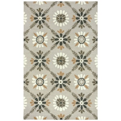 9'X12' Trellis Floral Area Rug Ivory - Rizzy Home