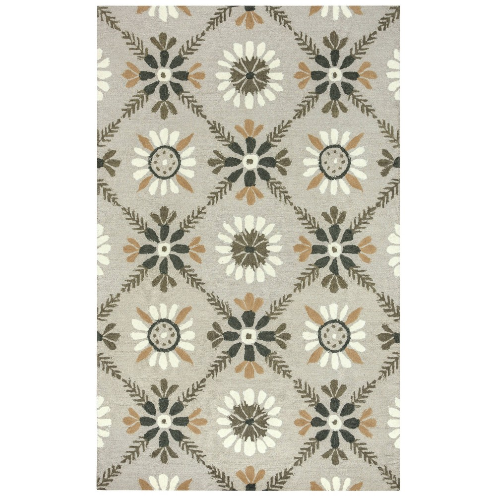 Reviews 9X12 Trellis Floral Area Rug Ivory - Rizzy Home