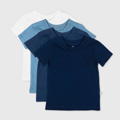 Honest Baby Baby Boys' 4pk Organic Cotton Short Sleeve T-Shirt - Blue 0-3M