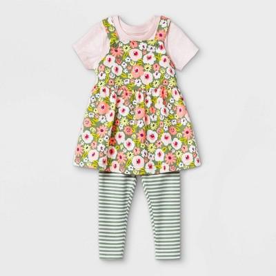 Baby Girls' Floral Skirtall Top & Bottom Set - Cat & Jack™ Pink