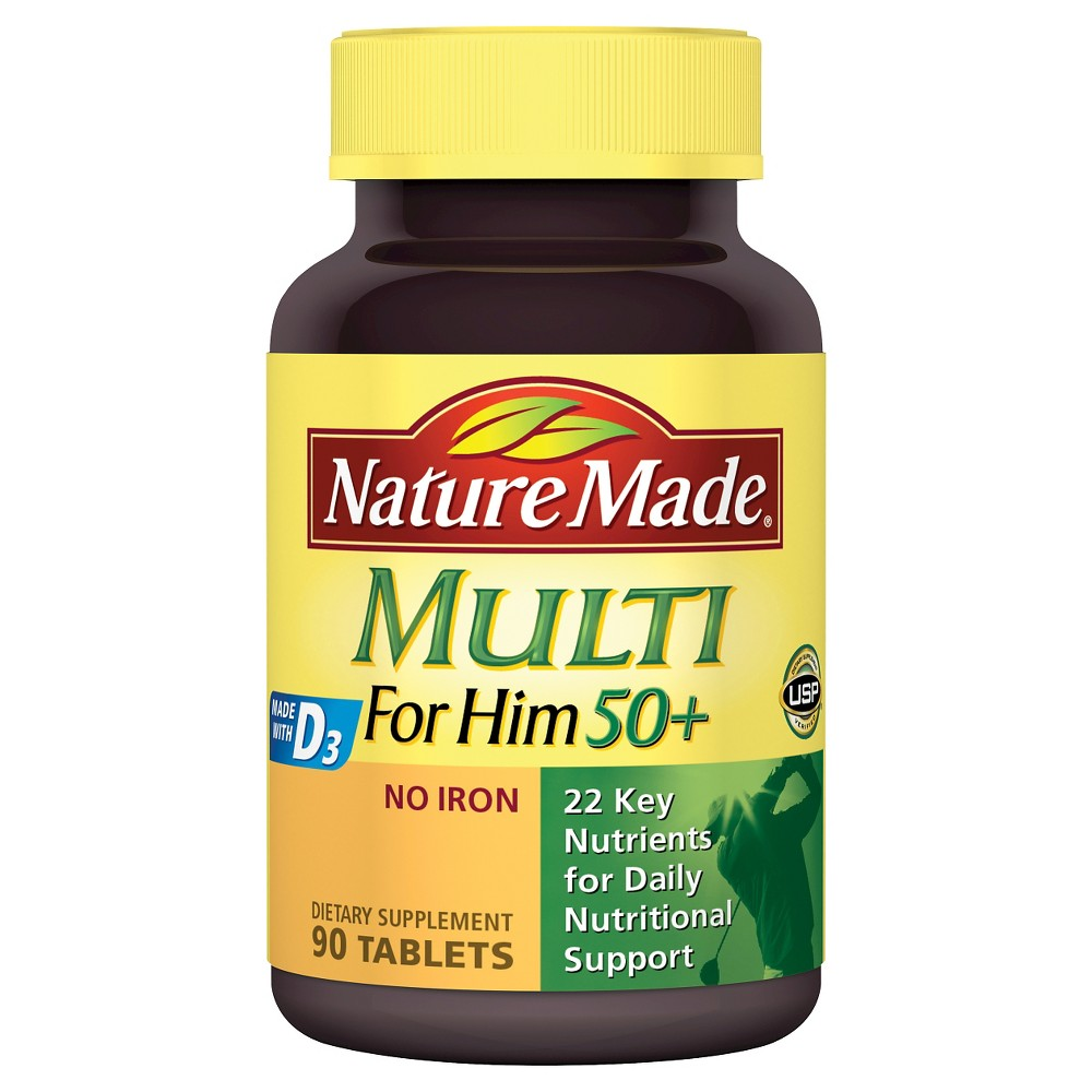 Nature Made For Him 50+ Multi Dietary Supplement Tablets - 90ct
