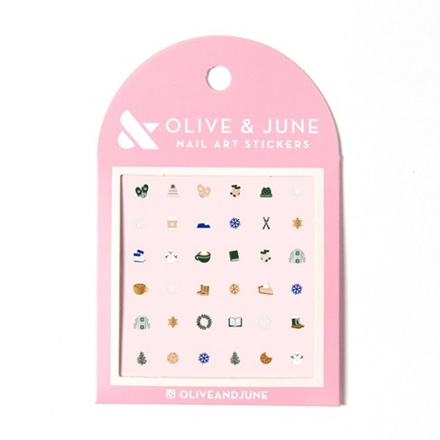 Olive & June Holiday Nail Art Stickers - Cozy - 36ct - image 1 of 4