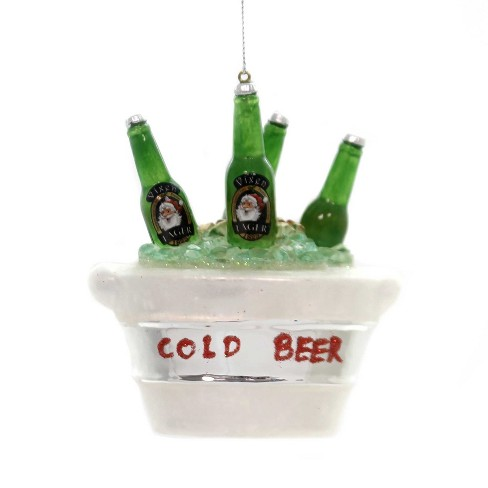"Holiday Ornaments 4.0"" Bucket Of Beer Lager Ice Cold  -  Tree Ornaments - image 1 of 2"