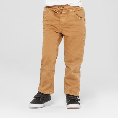 Toddler Boys' Pull-On Straight Fit Jeans - Cat & Jack™ Brown 4T