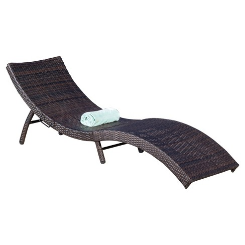 Acapulco Wicker Folding Chaise Lounge - Multibrown - Christopher Knight Home - image 1 of 4