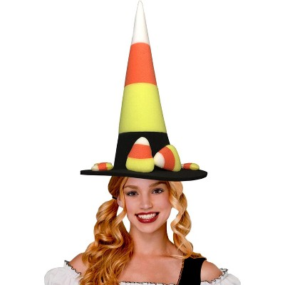 Funky Fresh Candy Corn Witch Adult Foam Costume Hat