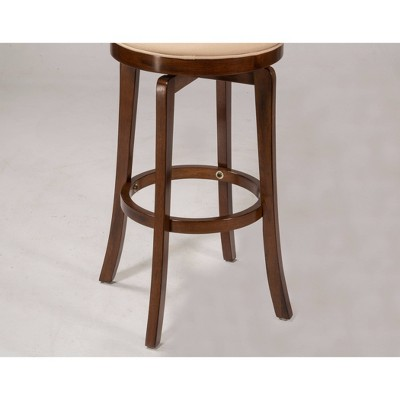 'Jefferson 24'' Counter Stool Hardwood/Brown Cherry - Hillsdale Furniture'