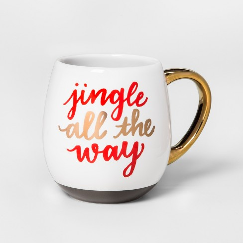 Stoneware Jingle All The Way Mug 17.5oz Red/White/Gold - Threshold™ - image 1 of 1