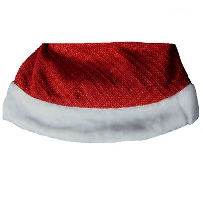 """Sterling 48"""" Red and White Woven Sparkle Christmas Tree Skirt"""