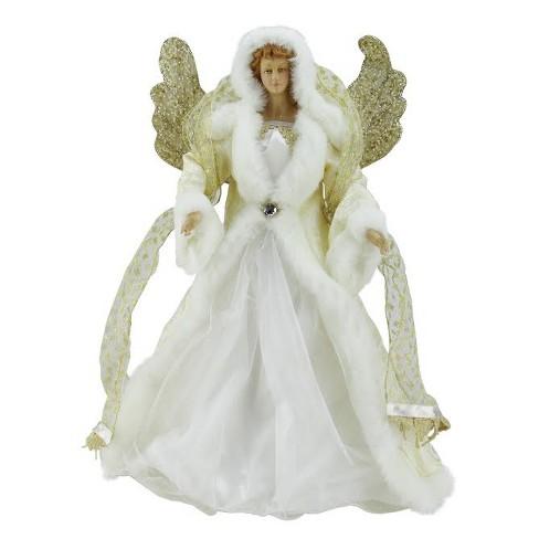"Melrose 18"" Seasons of Elegance White and Gold Angel Christmas Tree Topper - Unlit - image 1 of 1"