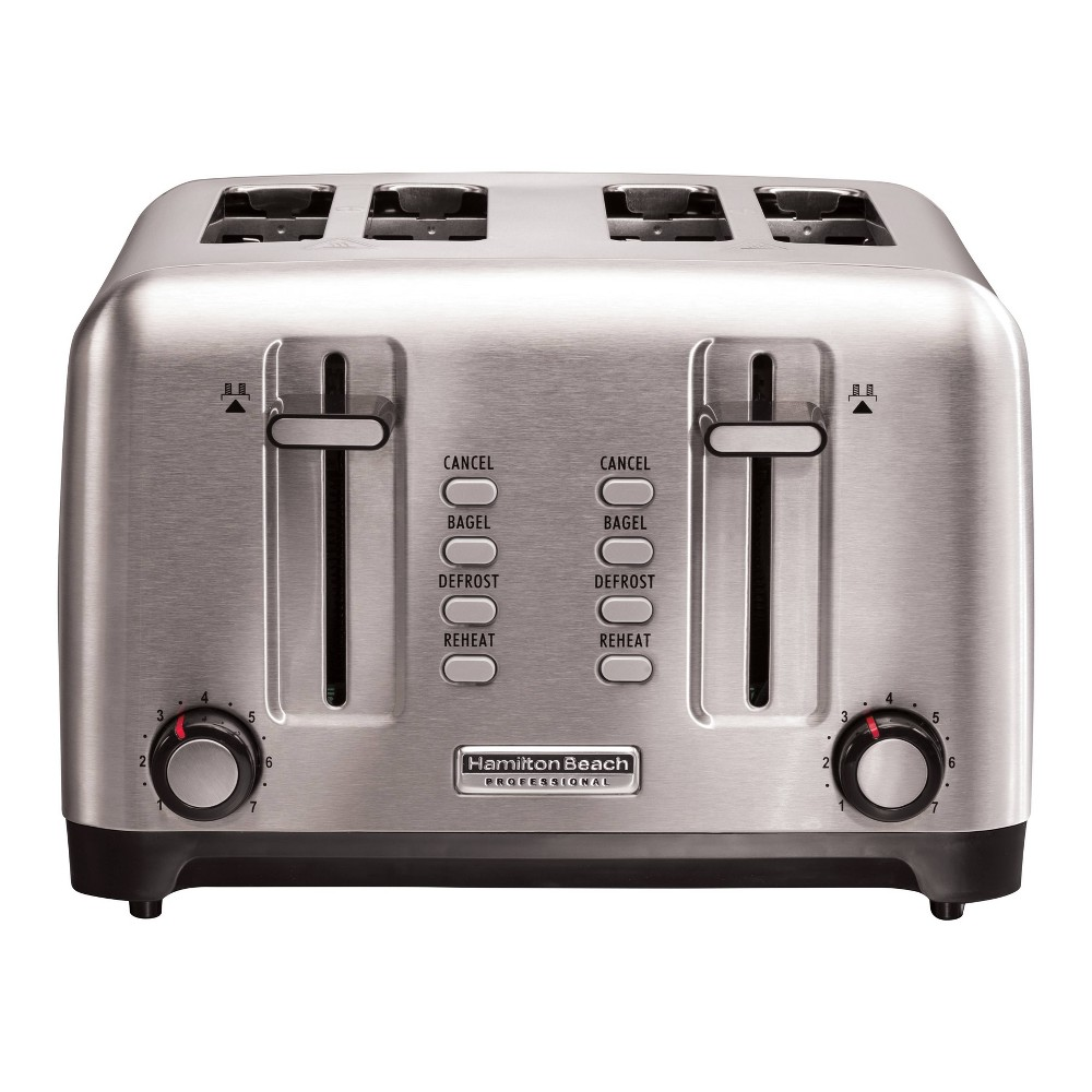 Image of Hamilton Beach Professional 4-Slice Toaster - Sliver
