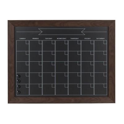 "20"" x 26"" Beatrice Chalk Calendar Walnut - DesignOvation"