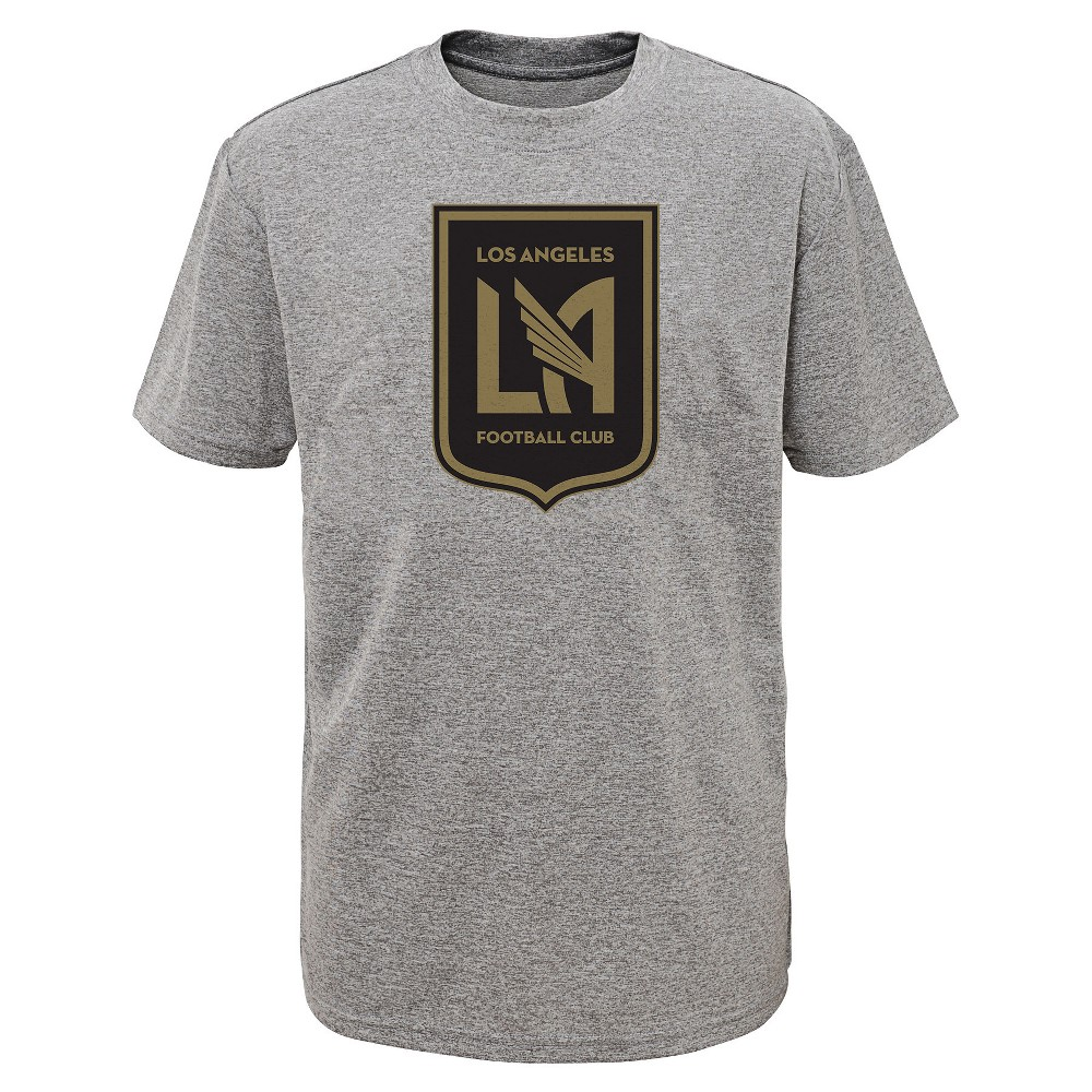 Boys' Short Sleeve Penalty Kick Gray Performance T-Shirt Los Angeles FC S, Multicolored